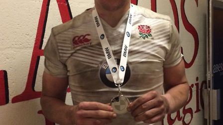 Nick Isiekwe picked up the man of the match award for England U18s against Wales. Picture: ENGLAND R