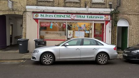 Chinese and Thai takeaway, in St Ives.