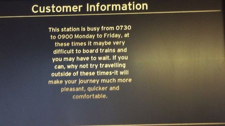 The sign which annoyed a Thameslink passenger at St Albans City station