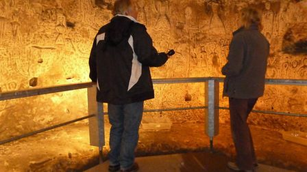 Volunteers are needed to help guide visitors exploring Royston Cave