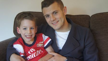 Flashback to 2013, when Arsenal midfielder Jack Wilshere visited Will Horton, of Harpenden, who has