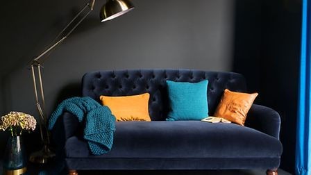 The Bailey velvet maxi sofa, royal blue, available from DFS (PA Photo/Handout)