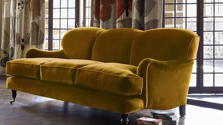 Lady May 3 seater sofa, from £1699, upholstered in Dusky Mustard, available from Sofa Workshop (PA P