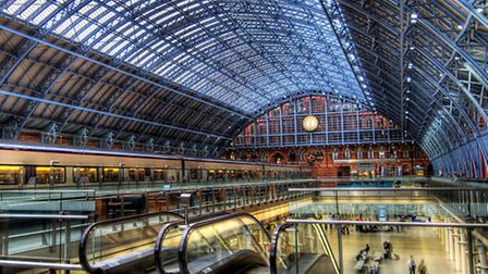The race is on: the quicker you can get into St Pancras International the better!