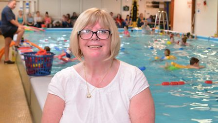 50 Years in Huntingdon Swimming, Patsy Coleman, at the Splash Academy,