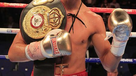 Tommy Martin with the WBA Continental title. Picture: LAWRENCE LUSTIG