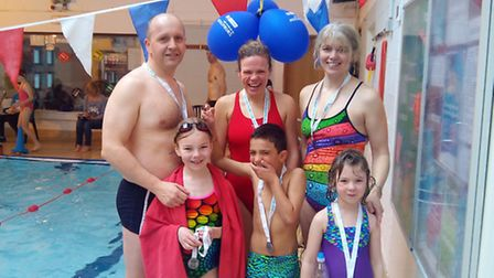 Keen swimmers took part in the fundraiser.