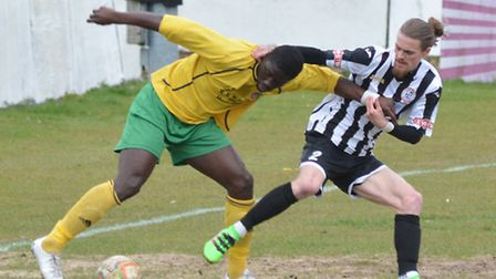 Scott Sinclair faces a late fitness test ahead of St Ives' clash against Ware. Picture: HELEN DRAKE