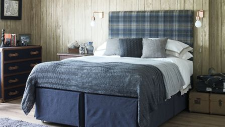 Hideaway divan base in Slate Weave with Heritage Countess Supreme mattress and Euro-Slim, available