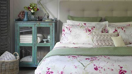 Christy Osaka Pink Oxford Pillowcase Pair, £31.50, and Double Duvet Cover, £80, available from Linen