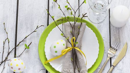 A Spring/Easter table setting