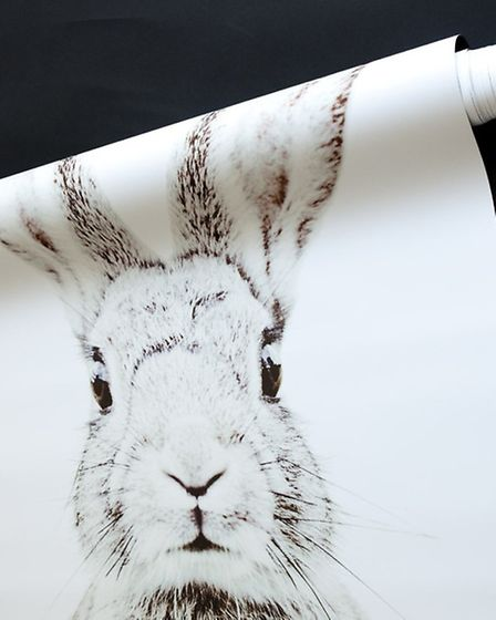 Rabbit printed magnetic wallpaper, Sisters Guild (PA Photo/Handout)