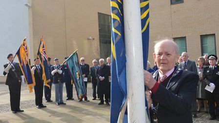 Fly a Flag Ceremony for Commonwealth Day, at Samian Court, Huntingdon, Huntingdonshire District Cou