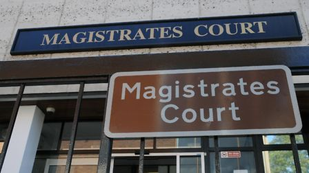 The three men, who stole money from a woman in St Albans, appeared at St Albans Magistrates Court