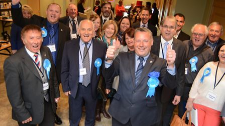 Cllr Jason Ablewhite with the Huntingdonshie Conservative group