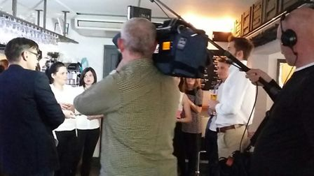 The Brickyard in St Albans being filmed for Good Morning Britain