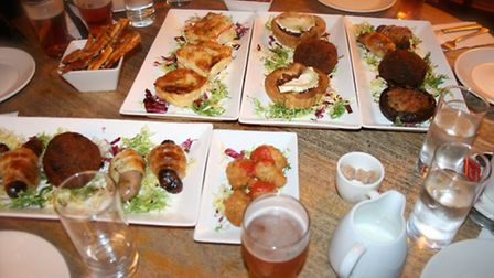 Tapas at the Rose and Crown