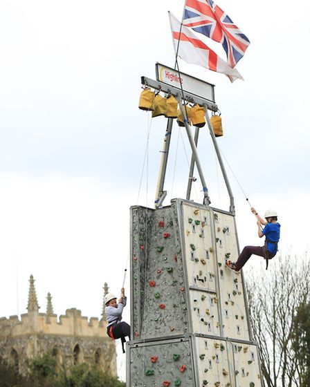 The wall climbers. PICTURE: David Hatton.