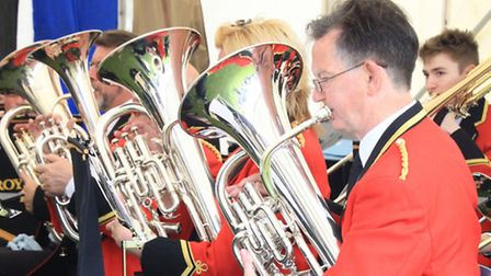 Royston Town Band perform. PICTURE: Clive Porter.