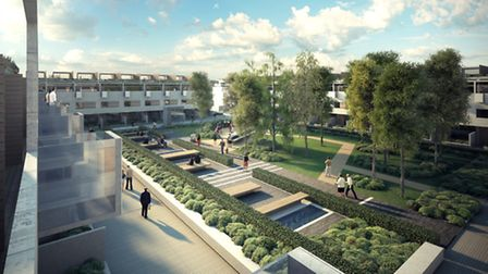 An artist's impression of what the London Road development will look like