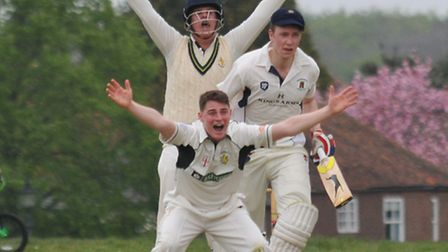 Callum Moyle picked up three wickets for Redbourn. Picture: DANNY LOO