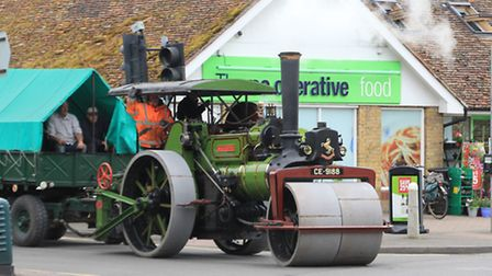 An Aveling Porter 1920 Steam Roller, previously used by Cambridge City Council for road repairs and
