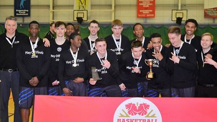 Oaklands Wolves Basketball Team who won the NBL D-League play-off crown