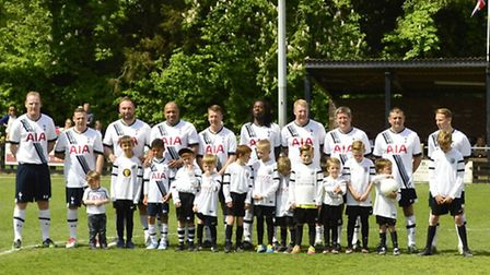 The Tottenham Hotspur legends were in town for a charity match to raise money for the Nicola Emmerso