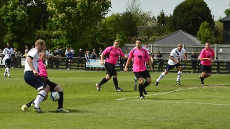 Spurs legends took on team Nicola Emmerson Trust in the match at Royston Football Club. Picture: Reb