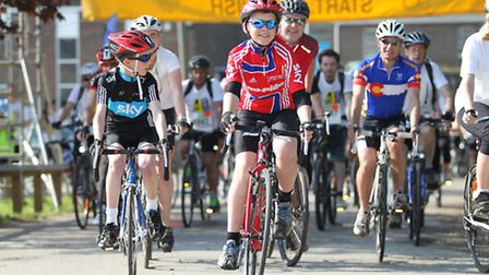 Riders taking part in the St Albans Charity Cycle Ride