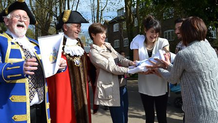 Mayor and grandson on Beat the Bounds