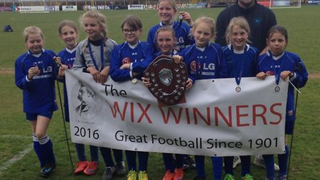 Fleetville Girls won the Wix seven-a-side trophy at Clarence Park