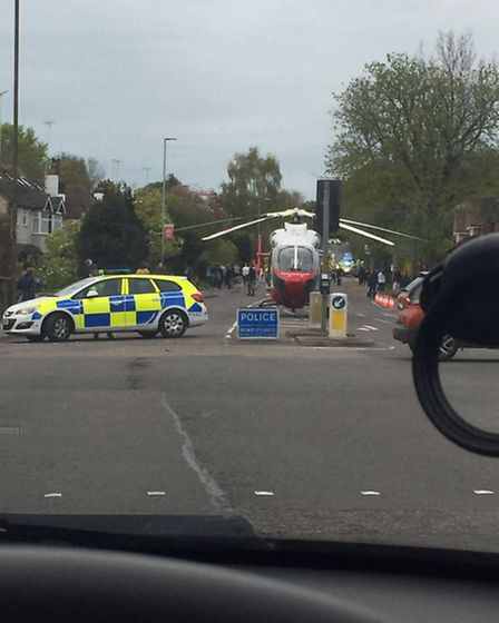 A man has died on Harpenden Road following a collision