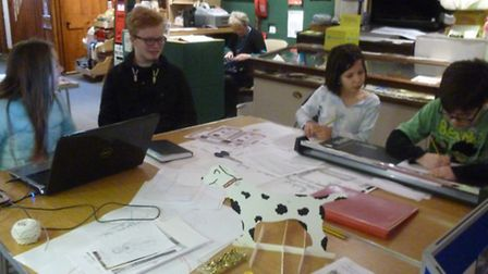 Young volunteers at Royston Museum