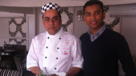 Chef Altaf Hussain and cousin Amran.