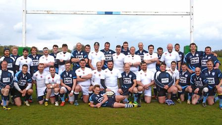 The St Neots and England Deaf sides are pictured ahead of their annual clash. Picture: HELEN DRAKE