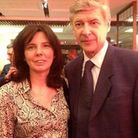 Missing widow Helen Bailey from Royston with Arsene Wenger.