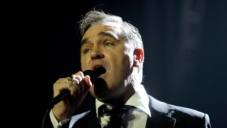 Morrissey in concert. Photograph: Dave Thompson/PA.