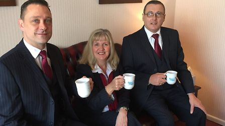 Funeral director Andy Mcfadyen, receptionist Linda Findlay and funeral manager Andrew Fuller.