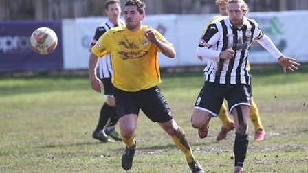 The loss of captain Luke Knight (right) to injury is a blow to St Ives Town ahead of their play-off