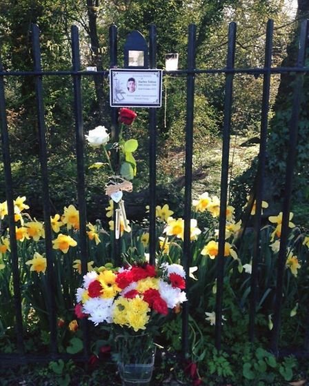 A special plaque was placed at The Wick in St Albans in memory of Harley Tobias