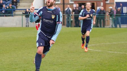 Lee Clarke suffered a ruptured Achilles during St Neots Town's final game of the season. Picture: CL