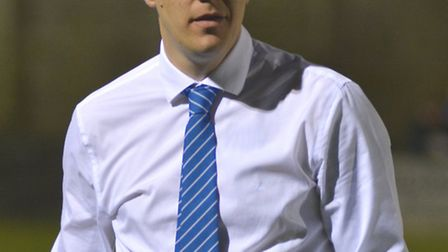 Eynesbury Rovers manager Mark Ducket. Picture: HELEN DRAKE