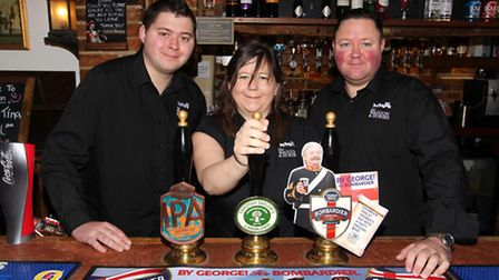 Michael, Tina and Mick Gough have recently taken over the Waggon and Horses pub in Steeple Morden