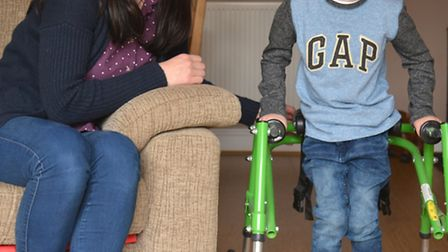 Zac Smith, from Offord Darcy, has cerebral palsy and has been denied funding for an operation, with