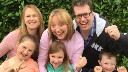 Amelia's family are all getting involved. Back left to right: Kelly Kessler (Jacey's sister in law),
