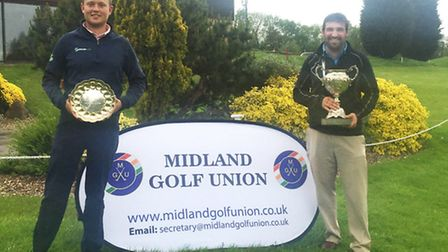 James Reeson (left) and Owen Davies (right) won the Midland Closed Championship team prize for Bramp