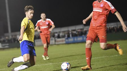 Sam Corcoran has moved from St Albans City to rivals Hemel Hempstead Town. Picture: BOB WALKLEY