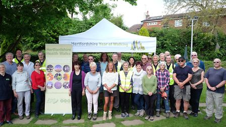Hertfordshire Health Walks celebrate 10 years of walking in the county