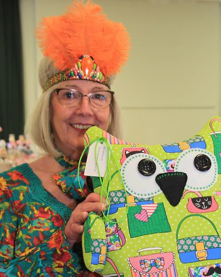Susan Goodhall was one of the many stall holders at the monthly Royston Craft Fair on Saturday getti